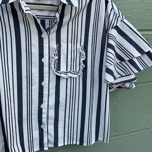 a new day Tops - 25% Off Bundles 👓 Striped Ruffle Sleeve Blouse